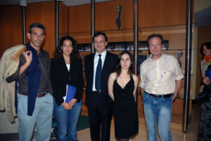 Inauguration of an art exhibition in Brussels