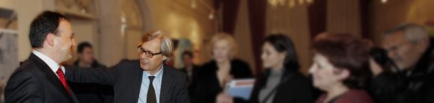 Parlando piacevolmente d'arte con Vittorio Sgarbi